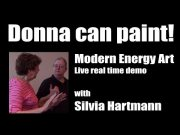 Donna can paint! Live real time demo with Silvia Hartmann